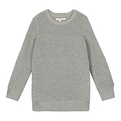 bluezoo - Boys' grey ribbed jumper