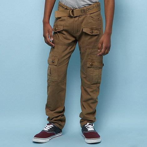 RJR.John Rocha - Designer boy+s beige belted casual trousers