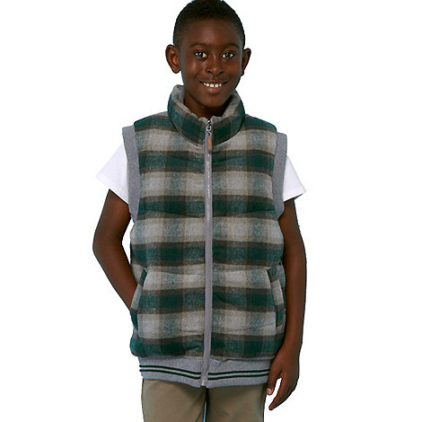 RJR.John Rocha - Designer boy+s green padded checked gilet