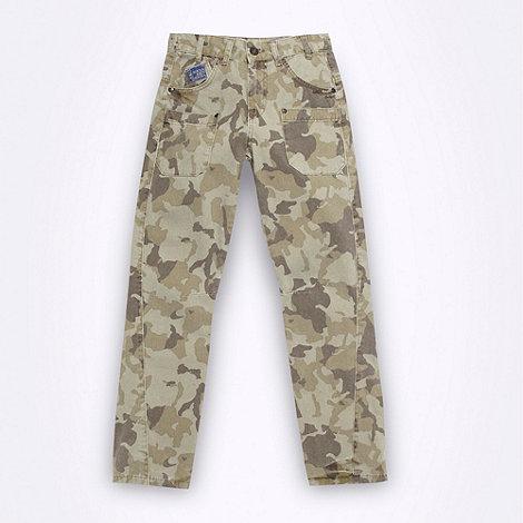 RJR.John Rocha - Designer boy+s khaki camouflage trousers