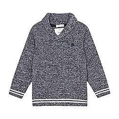 J by Jasper Conran - Boys' grey shawl neck jumper
