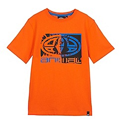 Animal - Boys' orange logo print t-shirt