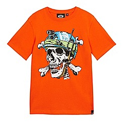 Animal - Boys' orange print t-shirt