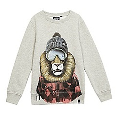 Animal - Boys' grey print sweatshirt