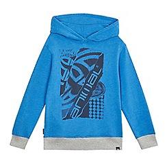 Animal - Boys' blue logo print hoodie