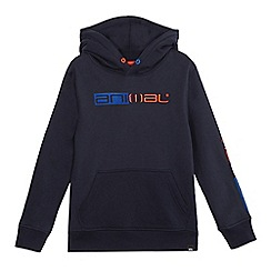 Animal - Boys' navy logo hoodie