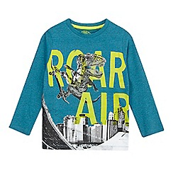 bluezoo - Boys' turquoise skating dinosaur top