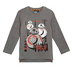 Star Wars - Boys' grey 'Star Wars BB-8' print long sleeved top