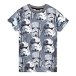 Star Wars - Boys' Star Wars grey Stormtrooper print t-shirt