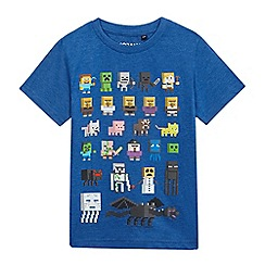 Minecraft - Boys' blue 'Minecraft' print t-shirt