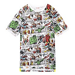 DC Comics - Boys' multi-coloured comic strip top