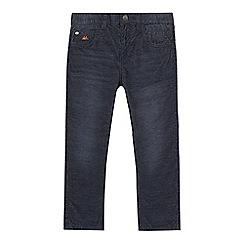 Mantaray - Boys' dark blue straight fit corduroy trousers