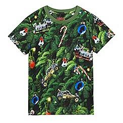 bluezoo - Boys' green Christmas tree print top