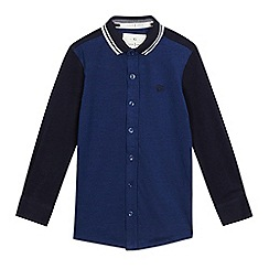 J by Jasper Conran - Boys' blue textured polo shirt
