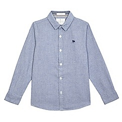 J by Jasper Conran - Boys' light blue grindle shirt