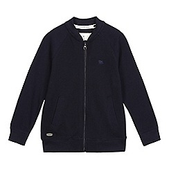 J by Jasper Conran - Boys' navy textured bomber jacket