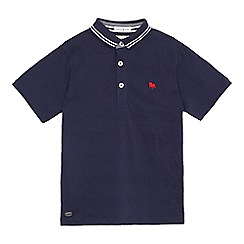 J by Jasper Conran - Boys' navy short sleeved polo shirt