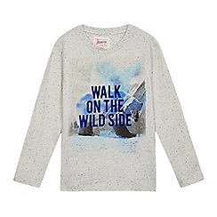 Mantaray - Boys' grey 'Walk on the wild side' flock t-shirt