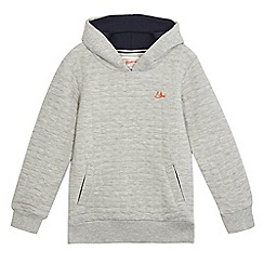Mantaray - Boys' grey quilted hoodie