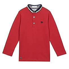 J by Jasper Conran - Boys' red tipped collar polo shirt