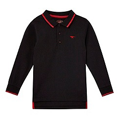 bluezoo - Boys' black long sleeved polo shirt