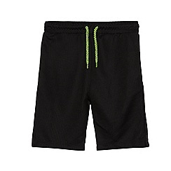 bluezoo - Boys' black textured sport shorts