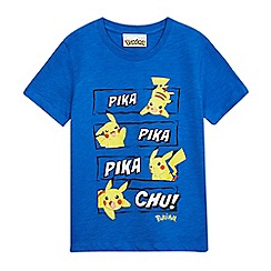 Pokemon - Boys' blue 'Pokemon' print t-shirt