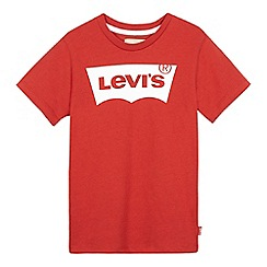 Levi's - Boys' red logo print t-shirt