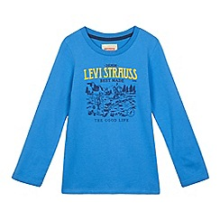 Levi's - Boys' blue logo applique top