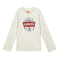 Levi's - Boys' beige logo print top