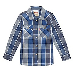 Levi's - Boys' blue checked print western shirt