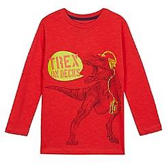 bluezoo - Boys' red dinosaur print top