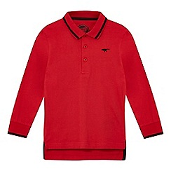bluezoo - Boys' red long sleeved polo shirt