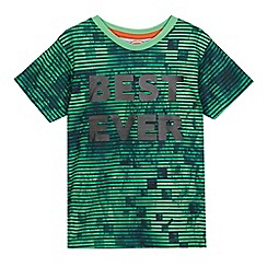 bluezoo - Boys' green 'Best ever' slogan print t-shirt