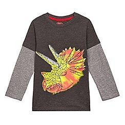 bluezoo - Boys' grey dinosaur print top