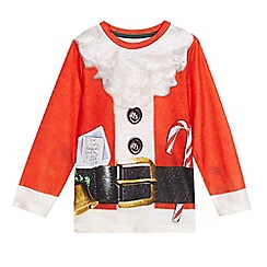 bluezoo - Boys' red 'Santa' dress up top
