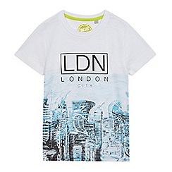 bluezoo - Boys' white 'London' print t-shirt