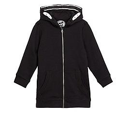 bluezoo - Boys' black longline hoodie
