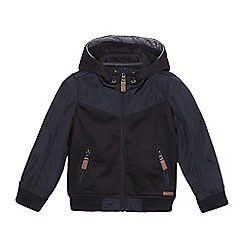 J by Jasper Conran - Boys' Navy textured insert hooded jacket