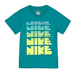 Nike - Boys' green logo print t-shirt