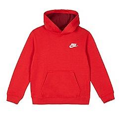 Nike - Boys' red logo hoodie