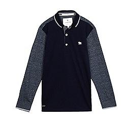 J by Jasper Conran - Boys' navy textured sleeve polo top