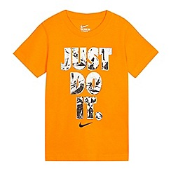Nike - Boys' orange 'Just Do It' t-shirt