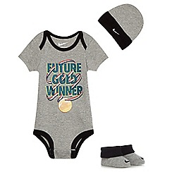 Nike - Baby boys' grey three piece set