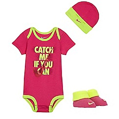Nike - Baby girls' pink three piece set
