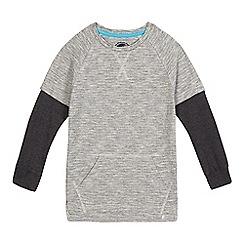 bluezoo - Boys' grey textures mock sleeve top