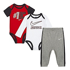 Nike - Pack of two baby boys' assorted printed bodysuits with jogging bottoms