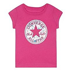 Converse - Girls' pink logo print top