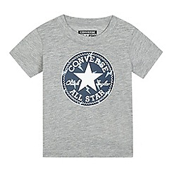 Converse - Baby boys' grey logo applique t-shirt