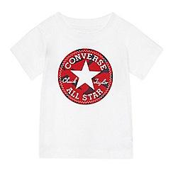 Converse - Baby boys' white 'Chuck Taylor' design t-shirt